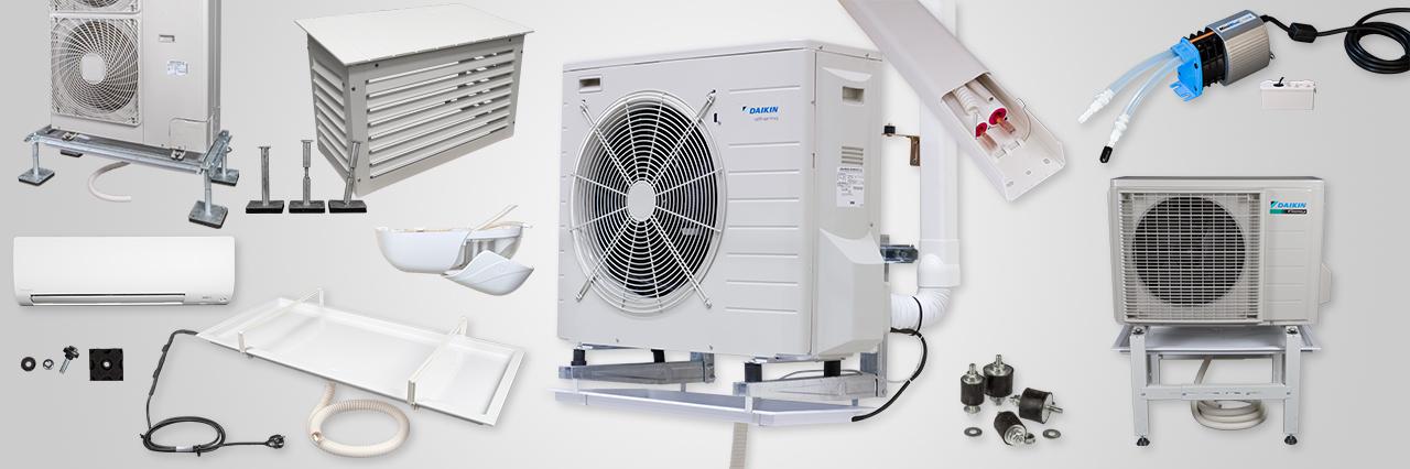 Montagematerial för luft-luftvärmepumpar